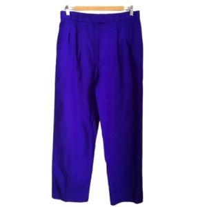 VINTAGE Eighties Purple Tapered Wool Trouser Pants